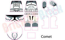 Lego Star Wars Clone Comet from Wolfpack Custom Water Slide Decal