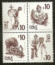 CHILE 1985 STAMP # 1145/8 MNH TYPICAL PEOPLE #2