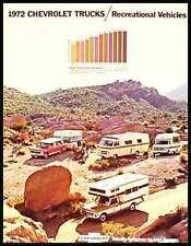 1972 Chevy Chevrolet Pickup Truck 4WD Original Brochure