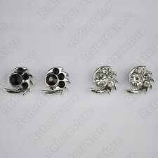 Spikey Spikes Silver Magnet Stud Earrings - Magnetic Mens Womens Fashion - NEW