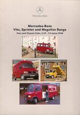 Mercedes-Benz Vito Sprinter Traveliner MegaVan 1996-97 UK Market Sales Brochure