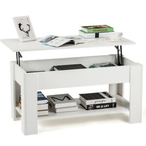 Lift up Top Coffee Table With Storage and Shelf For Home Living Room UK