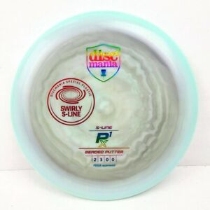 Discmania S-Line P1X Swirly Penned 175g NEW Rainbow w/ Red Overstamp