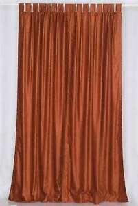 Rust Tab Top  Velvet Curtain / Drape / Panel  - Piece