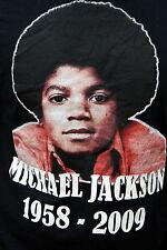 Rock t Shirt MICHAEL JACKSON TRIBUTO 1958-2009 Negro T-Shirt Tee M Rey del Pop