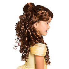 NEW Disney Store Princess Belle Wig Costume Dress up Girls Beauty and the Beast