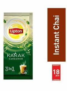Lipton Pack Of 18 Karak Cardamom 3-In-1 Instant Tea Mix Pack of 18