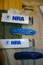 Nra Usa blue folding knife 27009 (2 to sell-separate listing for other)You get 1
