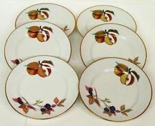 """Royal Worcester - Evesham Gold 6.5"""" Salad -Bread/Butter Plates- Set Of 6 -Fruits"""