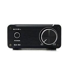 Gemtune SMSL SA-50 Hi-Fi Stereo Amplifier + Power Adapter BlackWith British Plug