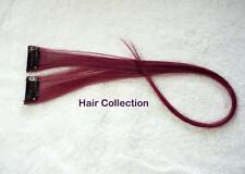 "18""Burgundy Human Hair Clip In Extensions for Highlight (2pcs)"