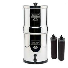 Big Berkey Water Purifier System w/2 Black BB9-2  Filters BK4X2 Free Shipping!