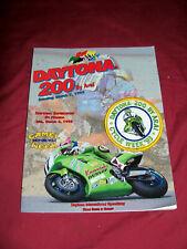 Vintage 1993 Daytona 200 Arai Race Program Magazine & Collector Patch Motorcycle