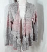 Anthropologie Knitted Knotted XS Sweater jacket Gray Mohair Wool Open Front