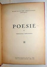 Marcella De Crescenzo: POESIE in romanesco 1938 Ars Nova 1a ed dedica Straccetto