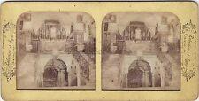 Nazareth Terre sainte Religion Stéréo Diorama Tissue Vintage Albumine