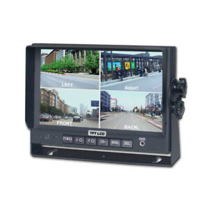 """7"""" TFT LCD High Resolution Monitor with 4 Camera Inputs Monitor Only RV Truck"""