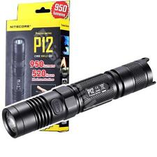 New NITECORE P12 Cree LED 950 Lumens Flashlight with holster CR123A 18650 [PD35]