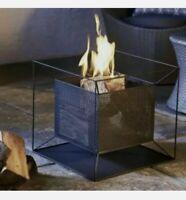 Garden Fire Pit Basket Patio Heater Log Wood Charcoal Burner Fireplace Black.