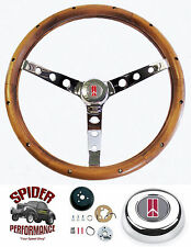"1969-1971 Cutlass 442 98 88 F85 steering wheel CLASSIC WALNUT 15"" Grant wheel"