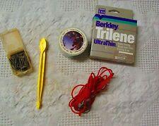 Vintage Lot Of Assorted Fishing Items, Line, Stringer, Hook Remover & Other