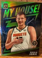 2019-20 2 CARDS Optic MY HOUSE SILVER & GREEN PRIZM Nikola Jokic #6 Nuggets /149