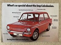 1976 Hillman Imp Caledonian original British sales leaflet/brochure