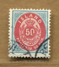 "EFO open ""0"" Iceland Numerals Issue #19 nice used stamp"