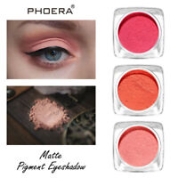 PHOERA 12Colors Shimmer Monochrome Matte Eyeshadow Glitter Powder Long Lasting