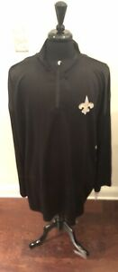 New Orleans Saints 1/4 Zip Pullover Men's 4XL Tall Free Ship new with tags
