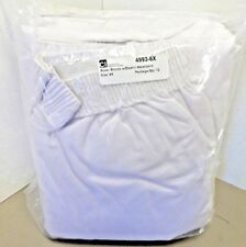 Package of 12 -  6X-Large White Boxers Men's Cotton Blend Underwear  NEW