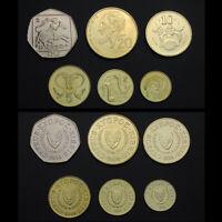 Cyprus Set 6 Coins, 1, 2, 5, 10, 20, 50 Cents , 2004, UNC