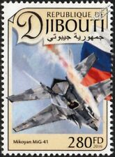 Mikoyan MiG-41 Russian Air Force Stealth Interceptor Aircraft Stamp (2016)