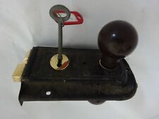 Vintage Old Victorian Rim lock With Key & Pair Bakelite Door knobs