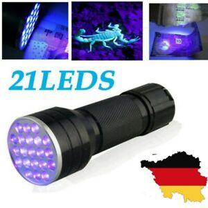 Ultra Violet 100 Led Taschenlampe Schwarzlicht Licht 395 Nm Inspection Lampen DE