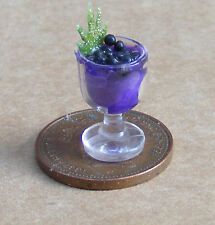 1:12 Scale Black Currant Ice Cream Sundae Tumdee Dolls House Food Accessory I43