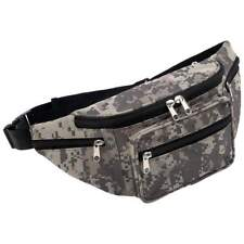 Digital Camo Water-Repellent Fanny Pack, Army 5 Pocket Waist Belt Hip Bag