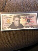 "Funny Money ""Elvis Presley"" Million Dollar Bill Fake Play FREE SLEEVE"