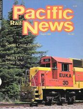 Pacific Rail News Aug.1985 Santa Fe Venta Spur Santa Barbara California Redwoods