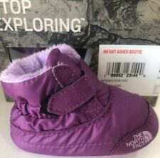 The North Face Infant Baby Girls Asher Bootie Green Purple NEW Boxed Retired 3