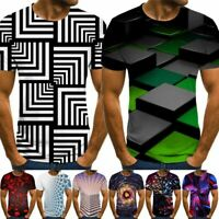 Funny Hypnosis 3D T-Shirt Mens Womens Colorful Print Casual Short Sleeve Tee Top