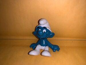 Sitting Smurf Rare Vintage Figure PVC Toy Figurine 1979 Peyo 20026