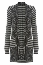 Viscose Long Sleeve Striped Jumpers & Cardigans for Women