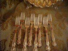 "Rogers Bros Elegant Lady Daybreak silverplate 8 dinner forks  7 1/8"" EXCELLENT"