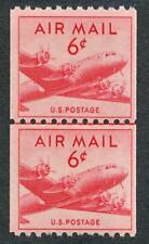 UNITED STATES C41 MINT NH F-VF, 6c COIL LINE PAIR