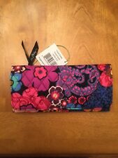 Vera Bradley Trifold Wallet Floral Fiesta NWT Free Shipping