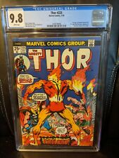 THOR 225 CGC 9.8 WHITE PAGES 1 OF 31 FIRST FIRELORD VERY RARE