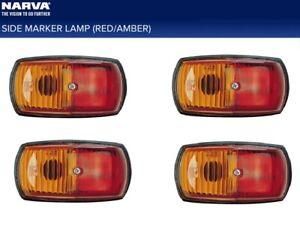 Narva Side Marker Clearance Light Red/Amber Incandescent 4 Pack Caravan Camper