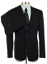 NWT VERSACE COLLECTION Black Stripe Wool 2Btn Flat Front Suit 54 44 44R $1095!