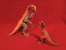 Schleich Therizinosaurus and Giganotosaurus Dinosaur figures